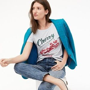 J. Crew Short-sleeve Michigan cherries T-shirt